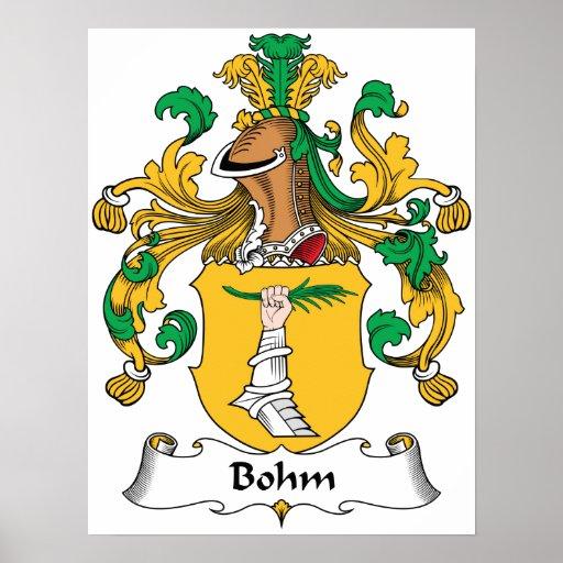 Escudo de la familia de Bohm Poster