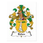Escudo de la familia de Bohm Postal