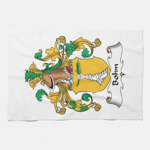 Escudo de la familia de Bohm Toalla De Mano