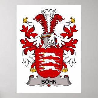 Escudo de la familia de Bohn Póster