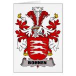 Escudo de la familia de Bohnen Felicitación