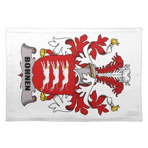 Escudo de la familia de Bohnen Manteles Individuales