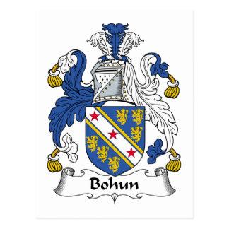 Escudo de la familia de Bohun Postales