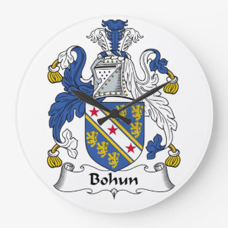 Escudo de la familia de Bohun Reloj Redondo Grande