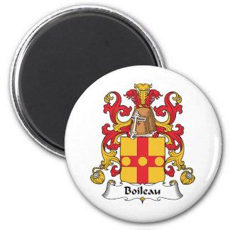 Escudo de la familia de Boileau Imán Redondo 5 Cm