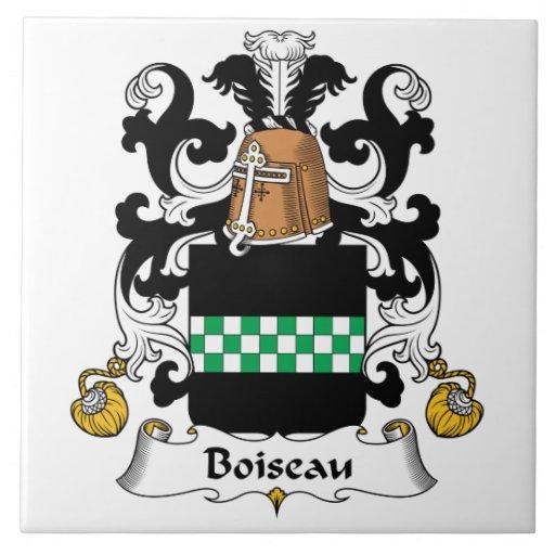Escudo de la familia de Boiseau Tejas Ceramicas