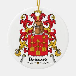 Escudo de la familia de Boissard Adorno Navideño Redondo De Cerámica