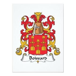 """Escudo de la familia de Boissard Invitación 6.5"""" X 8.75"""""""