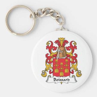 Escudo de la familia de Boissard Llavero Redondo Tipo Pin
