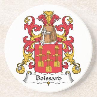 Escudo de la familia de Boissard Posavasos Personalizados