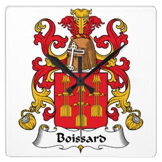 Escudo de la familia de Boissard Reloj De Pared