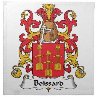 Escudo de la familia de Boissard Servilleta Imprimida