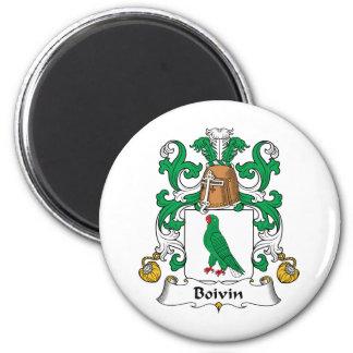 Escudo de la familia de Boivin Imán Redondo 5 Cm