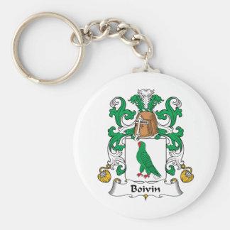 Escudo de la familia de Boivin Llaveros Personalizados