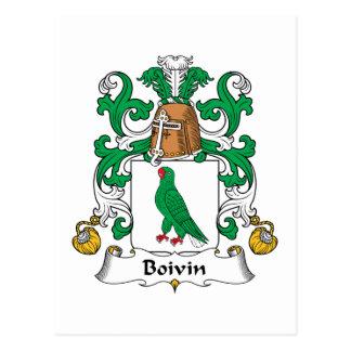 Escudo de la familia de Boivin Postal