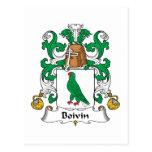 Escudo de la familia de Boivin Postales