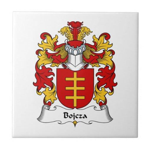 Escudo de la familia de Bojcza Azulejo Cuadrado Pequeño
