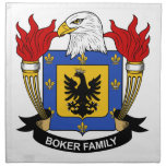 Escudo de la familia de Boker Servilletas De Papel