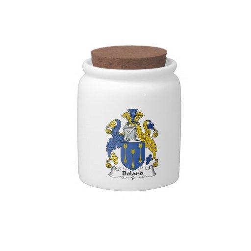 Escudo de la familia de Boland Platos Para Caramelos