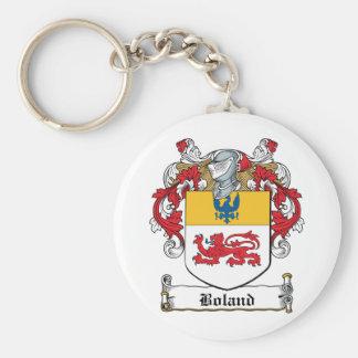 Escudo de la familia de Boland Llavero Redondo Tipo Pin