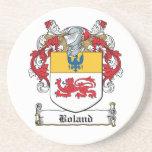 Escudo de la familia de Boland Posavasos Personalizados