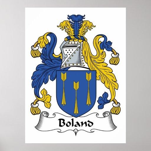 Escudo de la familia de Boland Póster