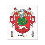 Escudo de la familia de Bolger Impresiones En Lienzo Estiradas