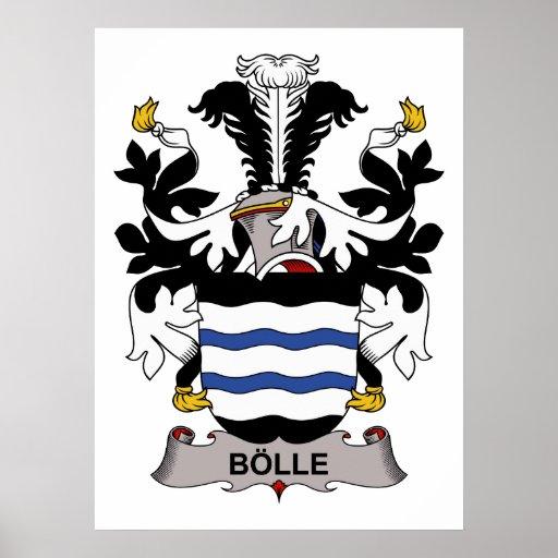 Escudo de la familia de Bolle Posters