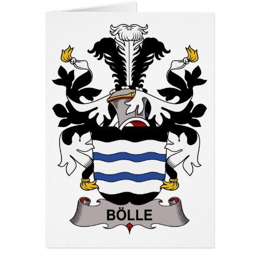 Escudo de la familia de Bolle Tarjeta De Felicitación