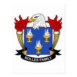 Escudo de la familia de Bolles Postal