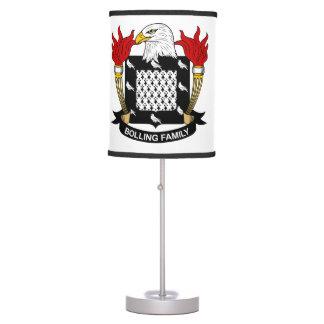 Escudo de la familia de Bolling Lámpara De Escritorio