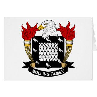 Escudo de la familia de Bolling Tarjeta De Felicitación