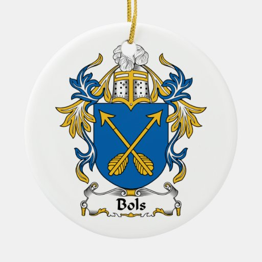 Escudo de la familia de Bols Adorno Redondo De Cerámica