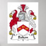 Escudo de la familia de Bolton Poster