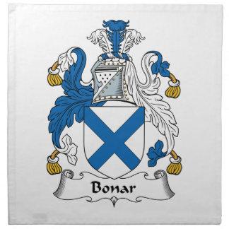 Escudo de la familia de Bonar Servilletas