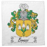 Escudo de la familia de Bonazzi Servilleta Imprimida