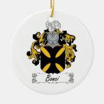 Escudo de la familia de Bonci Adornos De Navidad