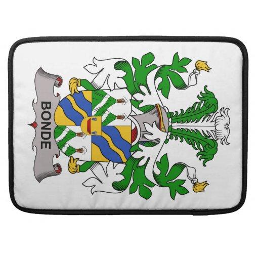 Escudo de la familia de Bonde Fundas Macbook Pro
