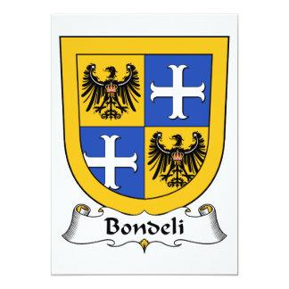 Escudo de la familia de Bondeli Invitacion Personal
