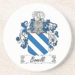 Escudo de la familia de Bonelli Posavasos Personalizados