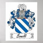 Escudo de la familia de Bonelli Poster