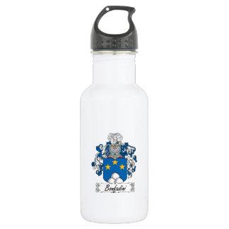 Escudo de la familia de Bonfadini Botella De Agua De Acero Inoxidable