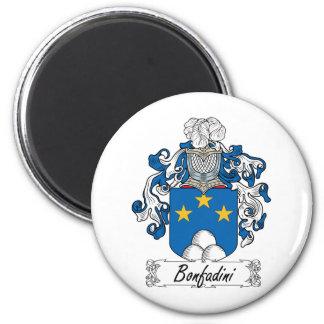 Escudo de la familia de Bonfadini Imán Redondo 5 Cm