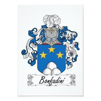 """Escudo de la familia de Bonfadini Invitación 5"""" X 7"""""""