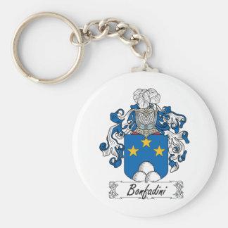 Escudo de la familia de Bonfadini Llavero Redondo Tipo Pin