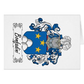 Escudo de la familia de Bonfadini Tarjeta De Felicitación