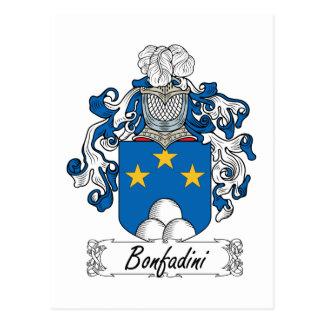Escudo de la familia de Bonfadini Tarjetas Postales