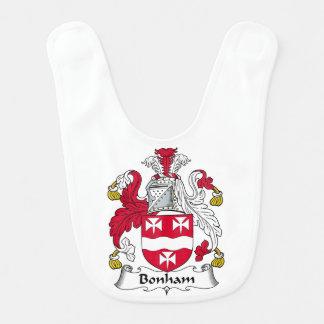 Escudo de la familia de Bonham Babero Para Bebé