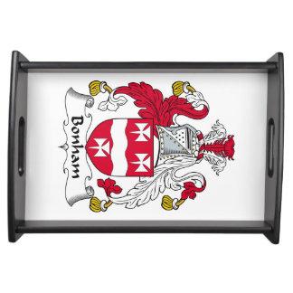 Escudo de la familia de Bonham Bandejas