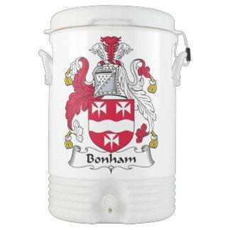 Escudo de la familia de Bonham Enfriador De Bebida Igloo